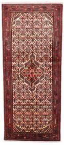 Asadabad Teppe 79X185 Ekte Orientalsk Håndknyttet Teppeløpere Mørk Rød/Mørk Brun (Ull, Persia/Iran)