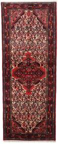 Asadabad Teppe 76X196 Ekte Orientalsk Håndknyttet Teppeløpere Mørk Rød (Ull, Persia/Iran)