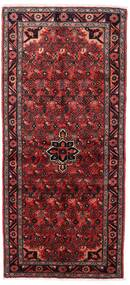Hosseinabad Teppe 87X193 Ekte Orientalsk Håndknyttet Teppeløpere Mørk Rød (Ull, Persia/Iran)