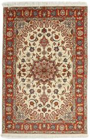 Tabriz 50 Raj Teppe 102X153 Ekte Orientalsk Håndvevd Mørk Rød/Lysbrun (Ull/Silke, Persia/Iran)