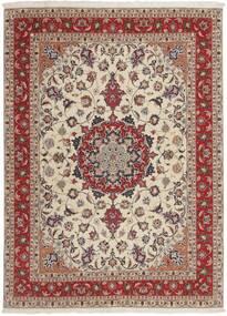 Tabriz 50 Raj Teppe 151X210 Ekte Orientalsk Håndvevd Lys Grå/Mørk Rød (Ull/Silke, Persia/Iran)