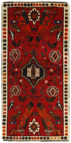 Ghashghai Teppe 85X170 Ekte Orientalsk Håndknyttet Teppeløpere Mørk Rød/Rust (Ull, Persia/Iran)