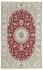 Nain 9La Teppe 149X238 Ekte Orientalsk Håndknyttet Lys Grå/Beige (Ull/Silke, Persia/Iran)