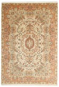 Tabriz 50 Raj Teppe 205X297 Ekte Orientalsk Håndvevd Beige/Brun (Ull/Silke, Persia/Iran)