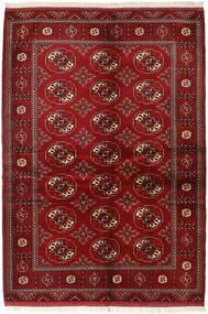 Turkaman Teppe 136X200 Ekte Orientalsk Håndknyttet Mørk Rød/Rød (Ull, Persia/Iran)