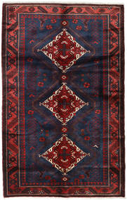 Hamadan Teppe 135X215 Ekte Orientalsk Håndknyttet Mørk Rød/Svart (Ull, Persia/Iran)
