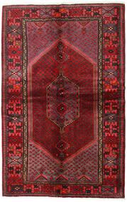 Hamadan Teppe 137X215 Ekte Orientalsk Håndknyttet Mørk Rød/Mørk Brun (Ull, Persia/Iran)