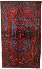 Hamadan Teppe 141X234 Ekte Orientalsk Håndknyttet Mørk Rød (Ull, Persia/Iran)