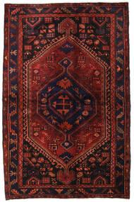 Hamadan Teppe 138X214 Ekte Orientalsk Håndknyttet Mørk Rød/Mørk Brun (Ull, Persia/Iran)