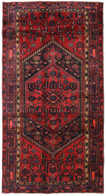 Hamadan Teppe 136X259 Ekte Orientalsk Håndknyttet Mørk Rød/Mørk Brun/Rust (Ull, Persia/Iran)