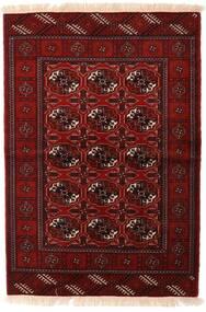 Turkaman Teppe 110X160 Ekte Orientalsk Håndknyttet Mørk Rød/Mørk Brun (Ull, Persia/Iran)
