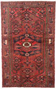 Hamadan Teppe 120X193 Ekte Orientalsk Håndknyttet Mørk Rød/Mørk Brun (Ull, Persia/Iran)