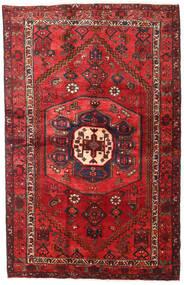 Hamadan Teppe 127X195 Ekte Orientalsk Håndknyttet Mørk Rød/Rust (Ull, Persia/Iran)