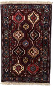 Yalameh Teppe 73X120 Ekte Orientalsk Håndknyttet Mørk Rød (Ull, Persia/Iran)
