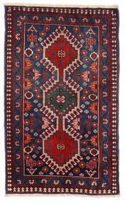 Yalameh Teppe 57X94 Ekte Orientalsk Håndknyttet Mørk Rød/Mørk Blå (Ull, Persia/Iran)