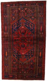 Hamadan Teppe 132X228 Ekte Orientalsk Håndknyttet Mørk Rød (Ull, Persia/Iran)