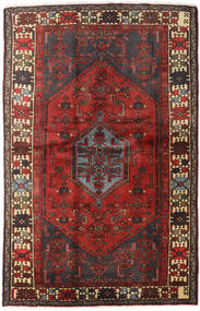 Hamadan Teppe 127X197 Ekte Orientalsk Håndknyttet Mørk Rød/Mørk Brun (Ull, Persia/Iran)
