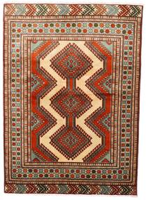 Turkaman Teppe 125X172 Ekte Orientalsk Håndknyttet Mørk Rød/Mørk Brun (Ull, Persia/Iran)