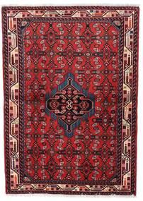Asadabad Teppe 98X140 Ekte Orientalsk Håndknyttet Mørk Rød/Rød (Ull, Persia/Iran)
