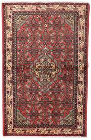 Asadabad Teppe 100X155 Ekte Orientalsk Håndknyttet Mørk Rød/Brun (Ull, Persia/Iran)