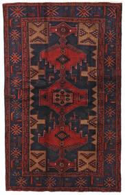 Hamadan Teppe 124X201 Ekte Orientalsk Håndknyttet Mørk Rød/Svart (Ull, Persia/Iran)
