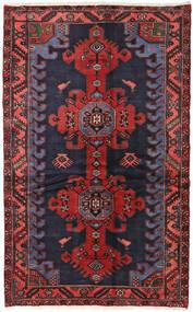 Hamadan Teppe 124X199 Ekte Orientalsk Håndknyttet Mørk Grå/Mørk Rød (Ull, Persia/Iran)
