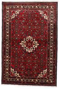 Hosseinabad Teppe 97X145 Ekte Orientalsk Håndknyttet Mørk Rød (Ull, Persia/Iran)