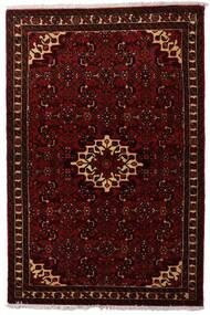 Hosseinabad Teppe 102X155 Ekte Orientalsk Håndknyttet Mørk Brun/Mørk Rød (Ull, Persia/Iran)