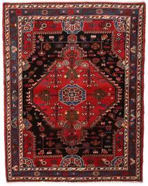 Hamadan Teppe 120X156 Ekte Orientalsk Håndknyttet Mørk Rød/Mørk Brun (Ull, Persia/Iran)
