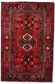 Nahavand Teppe 103X161 Ekte Orientalsk Håndknyttet Mørk Rød/Mørk Brun (Ull, Persia/Iran)