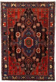 Nahavand Teppe 103X153 Ekte Orientalsk Håndknyttet Mørk Rød (Ull, Persia/Iran)