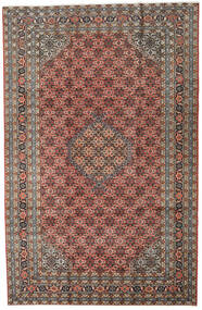 Ardebil Teppe 196X298 Ekte Orientalsk Håndknyttet Mørk Grå/Lysbrun (Ull, Persia/Iran)