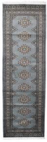 Pakistan Bokhara 2Ply Teppe 79X247 Ekte Orientalsk Håndknyttet Teppeløpere Mørk Grå/Mørk Brun (Ull, Pakistan)