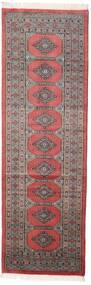 Pakistan Bokhara 2Ply Teppe 77X245 Ekte Orientalsk Håndknyttet Teppeløpere Mørk Brun/Mørk Rød (Ull, Pakistan)