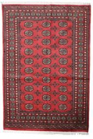 Pakistan Bokhara 2Ply Teppe 139X203 Ekte Orientalsk Håndknyttet Mørk Rød/Rust (Ull, Pakistan)