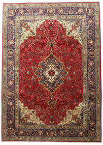 Tabriz Teppe 201X283 Ekte Orientalsk Håndknyttet Mørk Brun/Lysbrun (Ull, Persia/Iran)