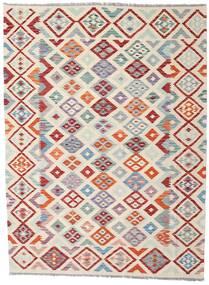 Kelim Afghan Old Style Teppe 174X235 Ekte Orientalsk Håndvevd Lys Grå/Beige (Ull, Afghanistan)