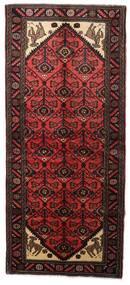 Hamadan Teppe 91X208 Ekte Orientalsk Håndknyttet Teppeløpere Mørk Rød (Ull, Persia/Iran)