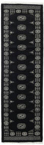 Pakistan Bokhara 3Ply Teppe 78X257 Ekte Orientalsk Håndknyttet Teppeløpere Svart/Mørk Grå (Ull, Pakistan)