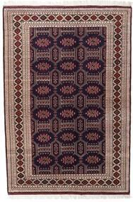 Turkaman Teppe 134X197 Ekte Orientalsk Håndknyttet Mørk Rød/Mørk Brun (Ull, Persia/Iran)