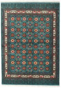 Turkaman Teppe 136X187 Ekte Orientalsk Håndknyttet Mørk Turkis/Mørk Grå (Ull, Persia/Iran)
