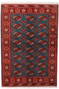 Turkaman Teppe 132X195 Ekte Orientalsk Håndknyttet Mørk Rød/Svart (Ull, Persia/Iran)