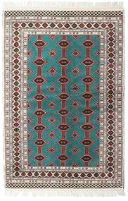 Turkaman Teppe 135X198 Ekte Orientalsk Håndknyttet Beige/Lys Grå (Ull, Persia/Iran)
