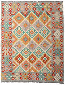 Kelim Afghan Old Style Teppe 158X199 Ekte Orientalsk Håndvevd Lys Grå/Beige (Ull, Afghanistan)