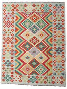 Kelim Afghan Old Style Teppe 150X194 Ekte Orientalsk Håndvevd Mørk Beige/Lys Grå (Ull, Afghanistan)