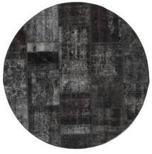 Patchwork - Persien/Iran Teppe Ø 200 Ekte Moderne Håndknyttet Rundt Mørk Grå (Ull, Persia/Iran)