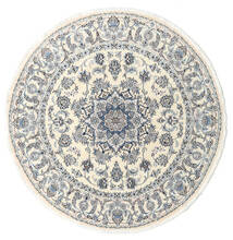 Nain Teppe Ø 200 Ekte Orientalsk Håndknyttet Rundt Beige/Lys Grå (Ull, Persia/Iran)