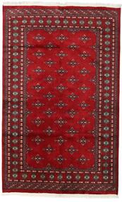 Pakistan Bokhara 2Ply Teppe 150X241 Ekte Orientalsk Håndknyttet Mørk Rød/Rød (Ull, Pakistan)