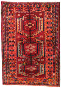 Lori Teppe 158X223 Ekte Orientalsk Håndknyttet Mørk Rød/Rust (Ull, Persia/Iran)