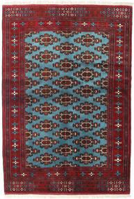 Turkaman Teppe 133X190 Ekte Orientalsk Håndknyttet Mørk Rød/Blå (Ull, Persia/Iran)